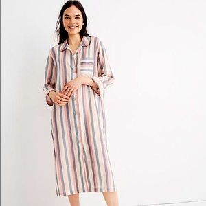 Madewell striped button t shirt nightgown